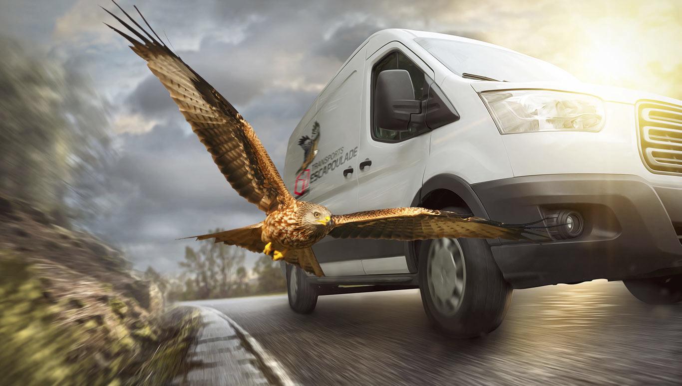 Camion Transports Escapoulade avec milan noir