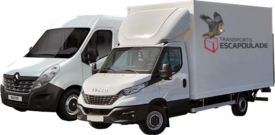 Camionette et camion de transports